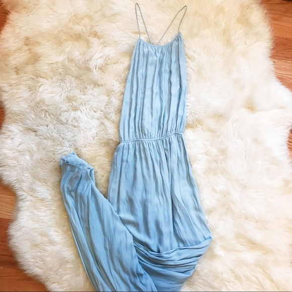 Zara Dresses & Skirts - ZARA Light Blue Maxi Dress
